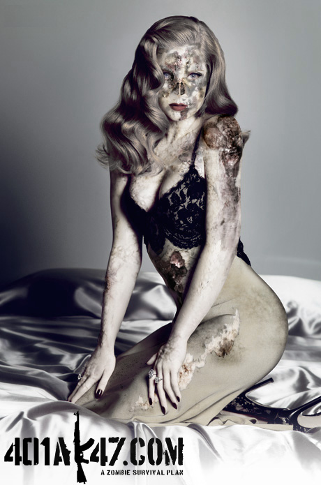 Amy Adams sexy hot babe zombie pic - celebrity zombie pin up girl - zombie art