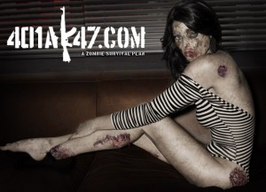 Ashley Greene Zombie Pinup sexy hot babe pic - celebrity zombie pin up girl - zombie art