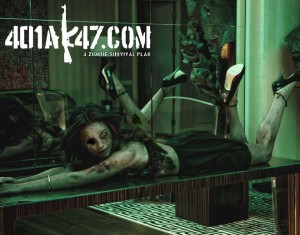 Mila Kunis Zombie Pinup sexy hot babe pic - celebrity zombie pin up girl - zombie art