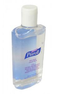 Purell hand sanitizing