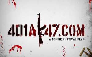 401Ak47 A Zombie Survival Plan Wallpaper Gray Red