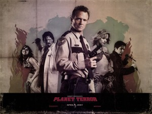 Planet Terror Cast with Sherrif Zombie Wallpaper