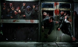 Zombies Wallpaper - la horde zombies breaking through door