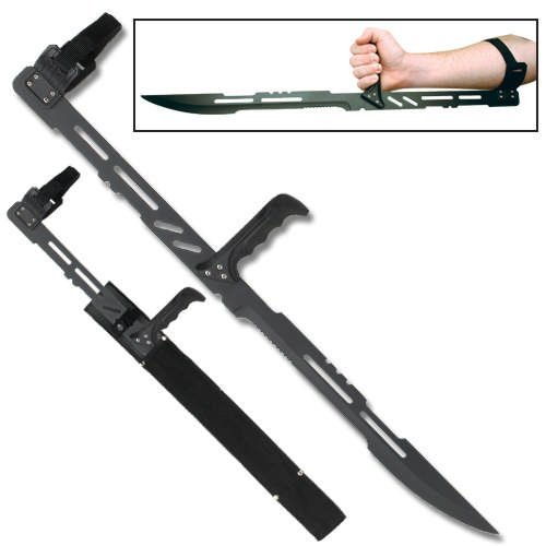 Melee weapon ninja forearm machete blade full tang knife sword