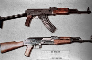 AKMS Type 4b Receiver with AK47 Type 2a Receiver Kalashnikov Assault Rifle Gun