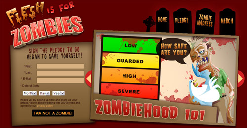 PETA's zombie campaign: Flesh is for Zombies