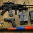 zombie weapons guns and baseball bat