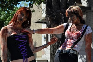 sexy zombie girls at zombie walk