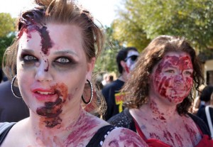 female zombies at zombie walk