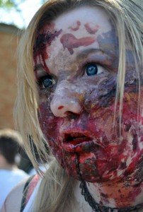 amazing zombie makeup at zombie walk