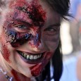 zombie girl makeup at zombie walk