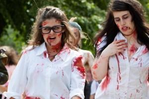 zombie nerds geeks at zombie walk