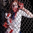 sexy zombie girl on fence