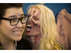 sexy zombie girl at high school
