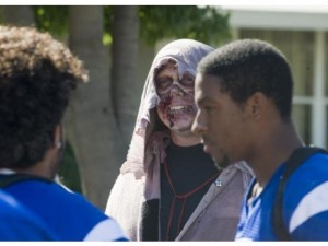 zombies hanging out at school