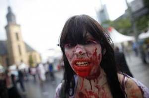 zombie walk parade frankfurt germany 1