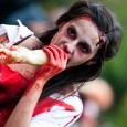 sexy zombie eating hand