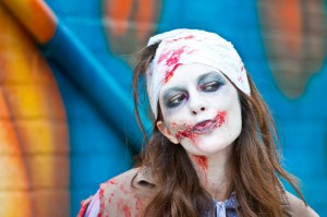 cute zombie at zombie walk