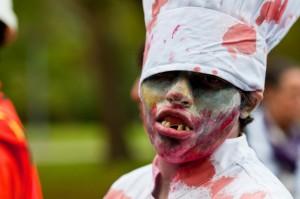 zombie walk chef