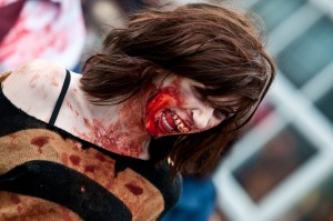 scary zombie girl