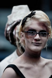 zombie fan at zombie walk