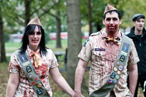 zombie walk zombie scouts