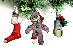 gingerbread man zombie Christmas ornament
