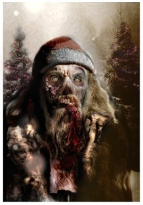 Zombie Santa Art Painting