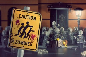caution zombie legos
