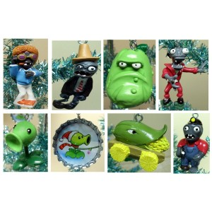 plants vs. zombies holiday Christmas tree ornaments