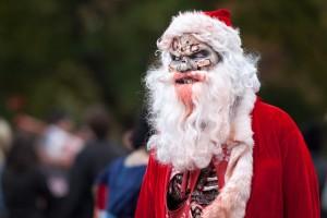 zombie santa claus - zombie walk santa