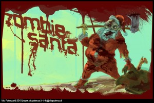 zombie santa claus art