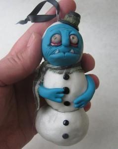zombie snowman figurine