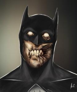 Zombie Batman Portrait