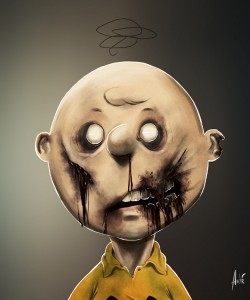 Zombie Charlie Brown Portrait