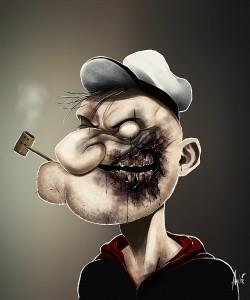 Zombie Popeye Portrait