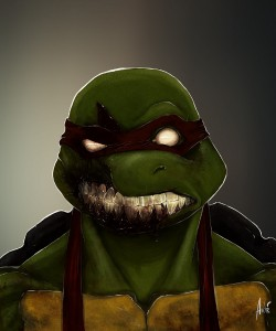 Zombie Ninja Turtle Portrait