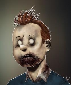 Zombie Tintin Portrait