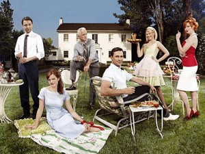The Walking Dead Hershel's farm with cast of Mad Men