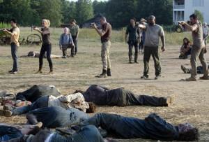 The Walking Dead cast on open farm firing line