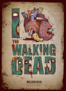 The Walking Dead Art - I Heart The Walking Dead Poster