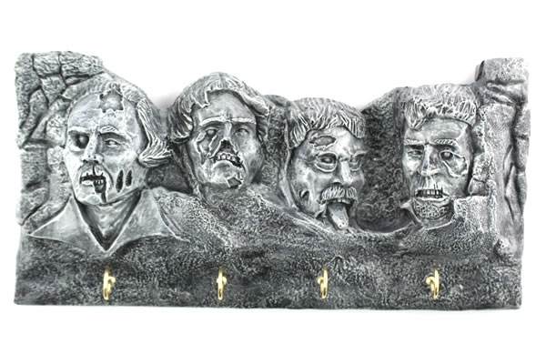 Zombie Mount Rushmore Letter and Key Holder Pic