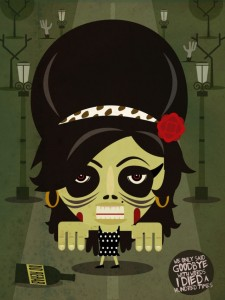 Zombie Amy Winehouse - Zombie Illustration