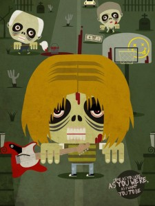 Zombie Kurt Cobain - Zombie Illustration