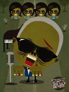 Zombie Ray Charles - Zombie Illustration
