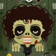 Zombie Whitney Houston - Zombie Illustration