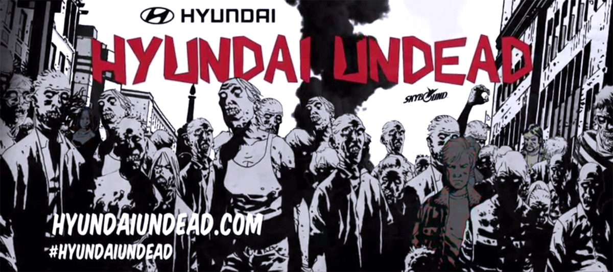 hyundai undead custom zombie proof car by Robert Kirkman, writer of The Walking Dead