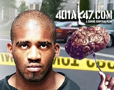 Maryland Cannibal Brain pic | picture of  Alexander Kinyua eating brain