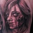 Realistic Portrait Zombie Tattoo