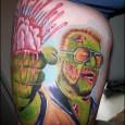 Big Lebowski Zombie Tattoo